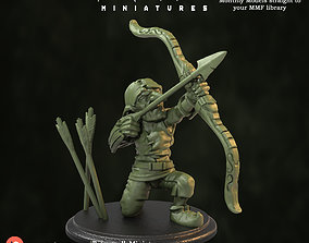 Goblin Archer Crouched - Pre supported 3D printable model