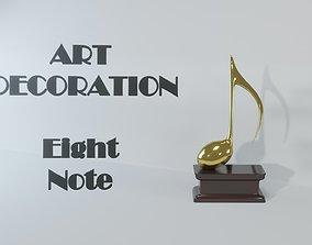 3D model Art Decoration - Eight Note - Golden Prize