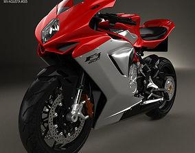 3D model MV Agusta F3 800 2014