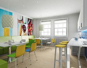 Office Tea Point Interior 3D