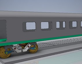 CAD model of a Railway Coach