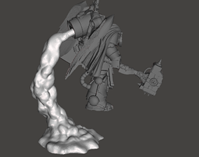 Assault Marine Exhaust Smoke Stands - 3D printable model 1