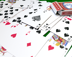 Customisable Cards Set and Box 3D asset