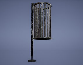 Dustbin Low Poly Game Ready 3D asset low-poly