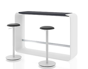 3D Hoop height table with Tilt height stool by