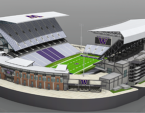 Husky Stadium 3D model