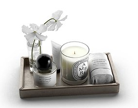 3D Byredo Products with Vase on Tray
