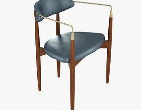 3D Viscount Brass Arm Chair by Dan Johnson