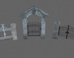 Gates 3D asset