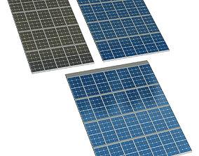 Solar cell panel 3D model reflective