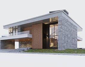 Modern two storey villa 3D