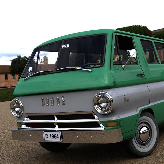 DODGE A100 COMPACT WINDOW 1964