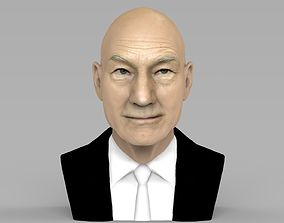 Professor X Charles Xavier bust ready for full color 3D 1