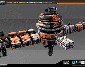 3D model EXPLORER Orbital Station EX7