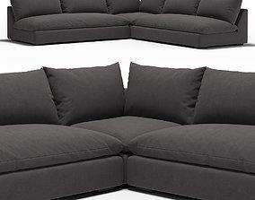 Winda Modern Classic Charcoal 3D model sofa