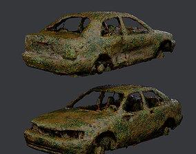 Apocalyptic Damaged Destroyed Vehicle Car Game 3D asset 1