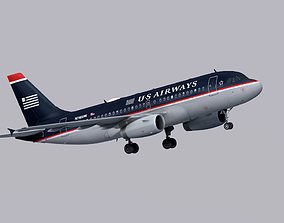 3D model Airbus A319 US Airways