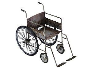 3D asset Wheelchair 01 02