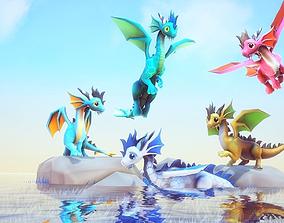3D model Little Dragons Sea