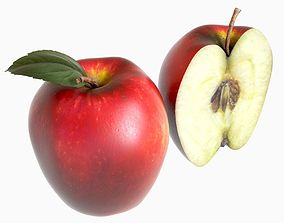 red apple vegan 3D
