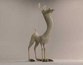 llama 3D model rigged