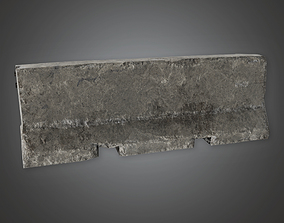 3D model Concrete Military Barrier - MLT - PBR Game Ready