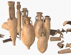 Amphora - Damaged Old Terracotta 3D model