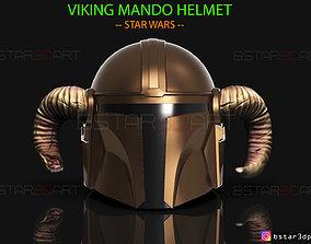 Viking Mandalorian Helmet - STAR WARS - High Quality 1