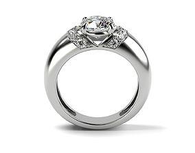 3D printable model Engagement ring UniqueD 002
