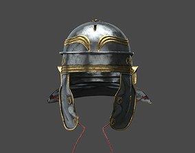 3D asset low-poly Roman helmet