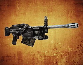 3D asset MG4 Machine Gun