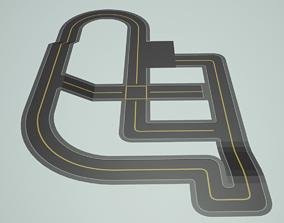 3D model Modular CityRoads