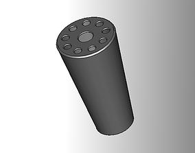Penholder for 8 pens and 1 bigger tool 3D printable model