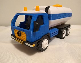 Tank truck toy - longer - fully printable - assembly 1