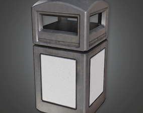 Outdoor Trashcan- CLA - PBR Game Ready 3D asset