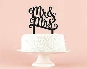 CAKE TOPPER MR Y MRS 3D print model