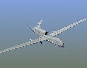 3D RQ-4 Global Hawk Drone