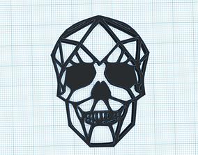 2D skull art 3D print model
