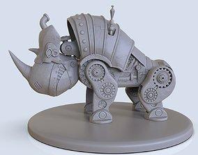 3D printable model rhinoceros steampunk