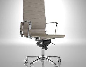 Ergonomic Office Chair 3D model wheel