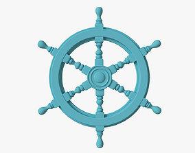 Naval steering wheel 3D model