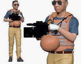 001123 cameraman in armor 3d print ready