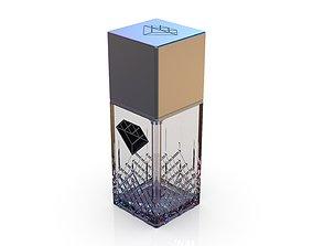 3D Diamond cosmetics bottle - 42x42 mm - V - 90 mL