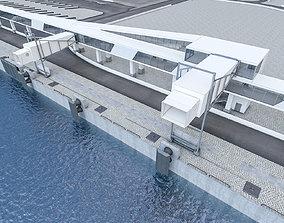 3D asset Port Gangway Set
