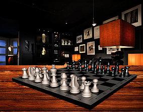 3D model sandstone chess