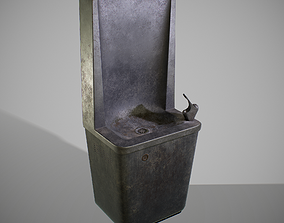 PBR Old Drinking Fountain 3D asset