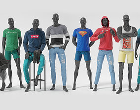 3D Male mannequin whith clothes FULL PACK
