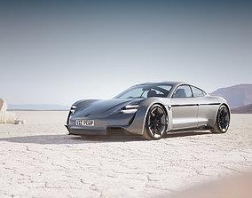3D Electric German sport car unbranded