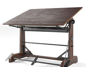 steel Drafting Table 3D model
