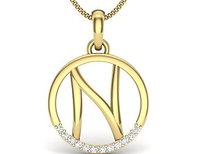 fashion 3D print model Diamond Pendant